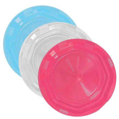 25 Piatti di plastica riutilizzabili e lavabili colorati DOpla Ø22 cm