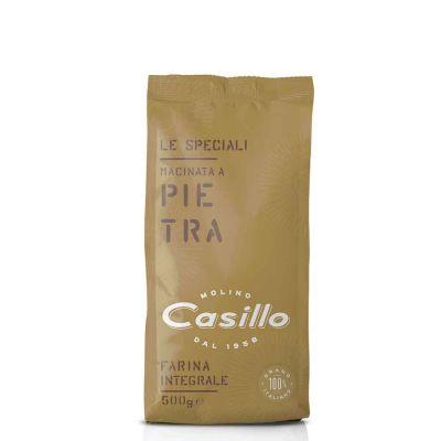 Farina integrale di grano tenero macinata a pietra Casillo 500 g