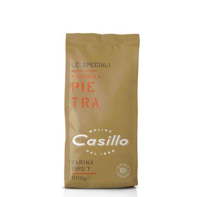 Farina di grano tenero tipo 1 macinata a pietra W230 Casillo 500 g