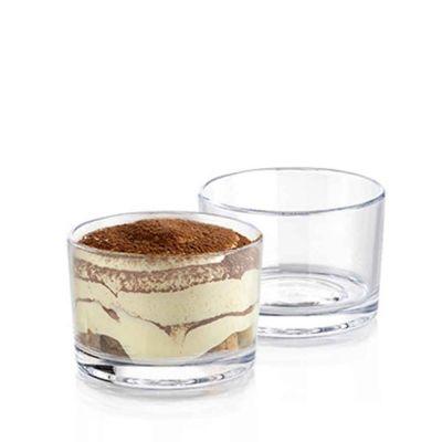 Coppe da dessert Charlotte riutilizzabili in plastica trasparente 180 ml
