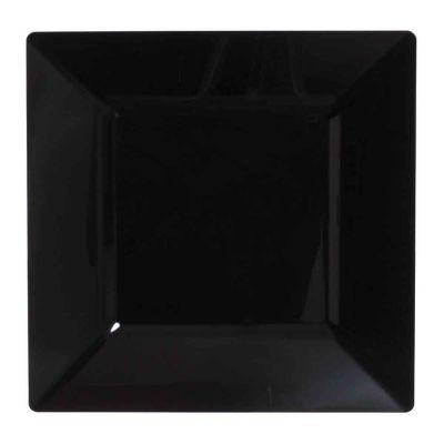 Piatti di plastica rigida quadrati Spigolo nero 27x27 cm