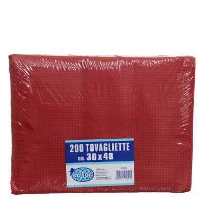 Confezione tovagliette americane usa e getta Astor 30x40 tinta unita rosso