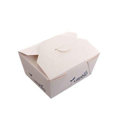 50 Contenitori per asporto in cartoncino compostabile 10,7x8,6xh6cm