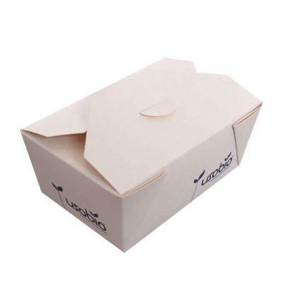 50 Contenitori per asporto in cartoncino compostabile 13x8,5xh6cm