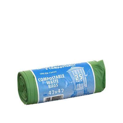 25 Sacchetti biodegradabili 42x42cm