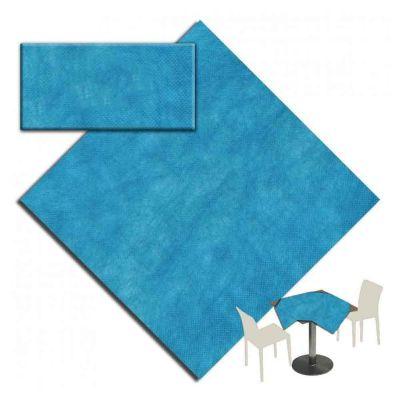 25 Tovaglie tessuto non tessuto coprimacchia in TNT 140x140 cm azzurro