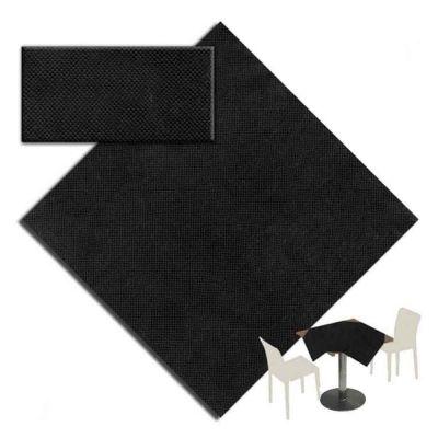25 Tovaglie tessuto non tessuto coprimacchia in TNT 140x140 cm nero