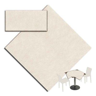 25 Tovaglie tessuto non tessuto coprimacchia in TNT 100x100 cm sabbia