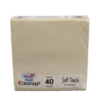 Tovaglioli di carta tessuto non tessuto TNT 38x38 crema