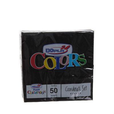 Tovaglioli di carta ovatta DOpla 33x33 nero