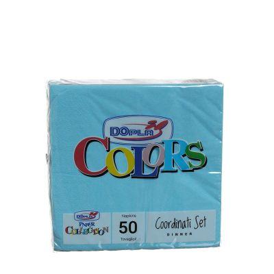 Tovaglioli di carta ovatta DOpla 33x33 azzurro