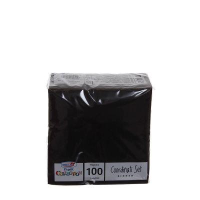 Tovaglioli di carta per cocktail 25x25 cm nero