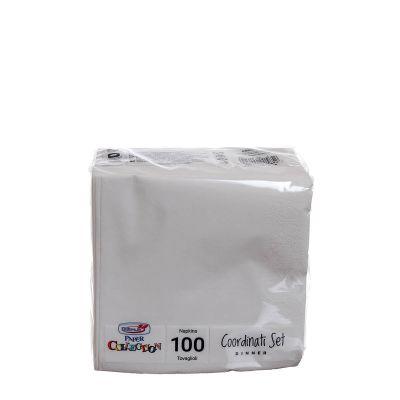 Tovaglioli di carta per cocktail 25x25cm bianco