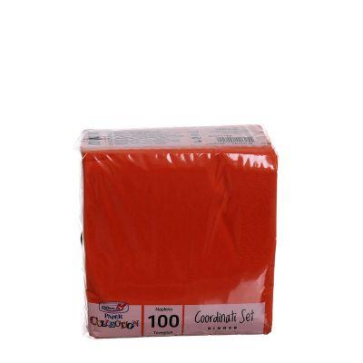 Tovaglioli di carta per cocktail 25x25 cm arancione
