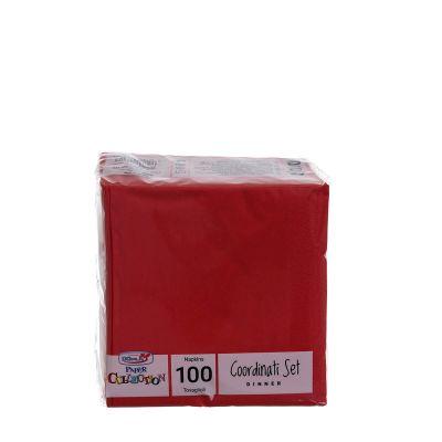 Tovaglioli di carta per cocktail 25x25 rosso