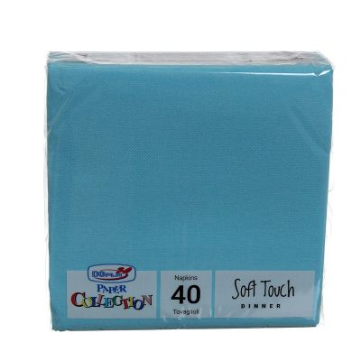 Tovaglioli di carta tessuto non tessuto TNT 38x38 azzurro