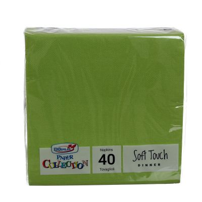 Tovaglioli di carta tessuto non tessuto 38x38 verde acido