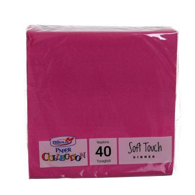 Tovaglioli di carta tessuto non tessuto 38x38 fucsia