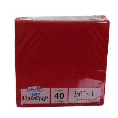 Tovaglioli di carta tessuto non tessuto TNT 38x38 cm rosso