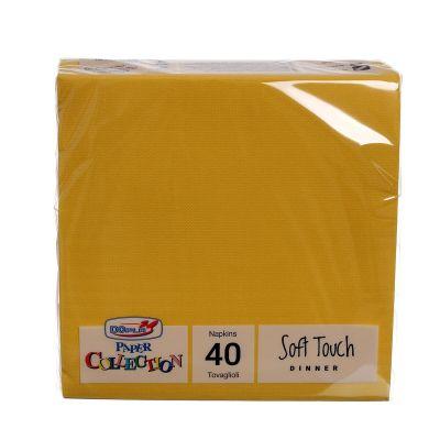 Tovaglioli di carta tessuto non tessuto TNT 38x38 giallo
