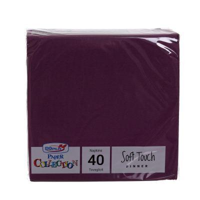 Tovaglioli di carta tessuto non tessuto TNT 38x38 viola