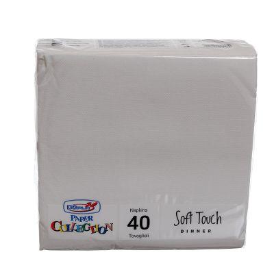 Tovaglioli di carta tessuto non tessuto TNT 38x38 cm bianco