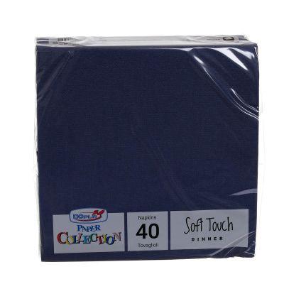 Tovaglioli di carta tessuto non tessuto TNT 38x38 cm blu