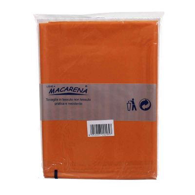 Tovaglia TNT effetto tessuto rettangolare arancione