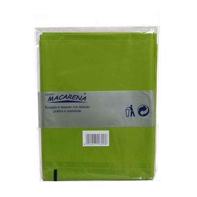 Tovaglia TNT effetto tessuto rettangolare verde acido