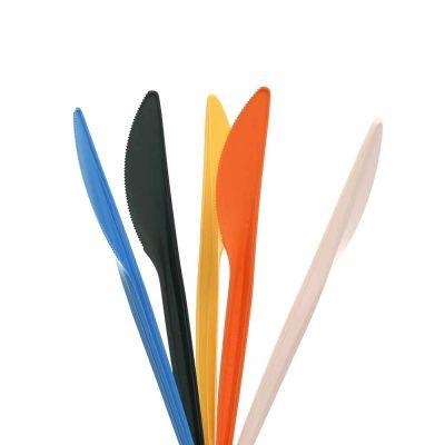 100 Coltelli in Mater-Bi® compostabile colorati 16 cm