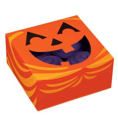 3 Box contenitori porta dolci tema Halloween 15,8 x 15,8 h 7,6 cm