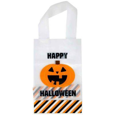 10 sacchetti per dolci con manici Halloween zucca