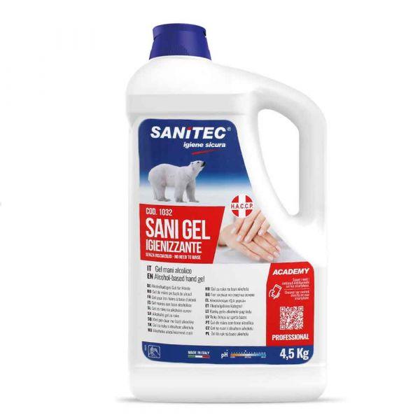 Sani Gel igienizzante per mani alcolico Sanitec HACCP 5 L