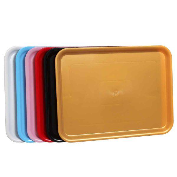 1 Vassoio da servizio in plastica 30x40 cm colori a scelta