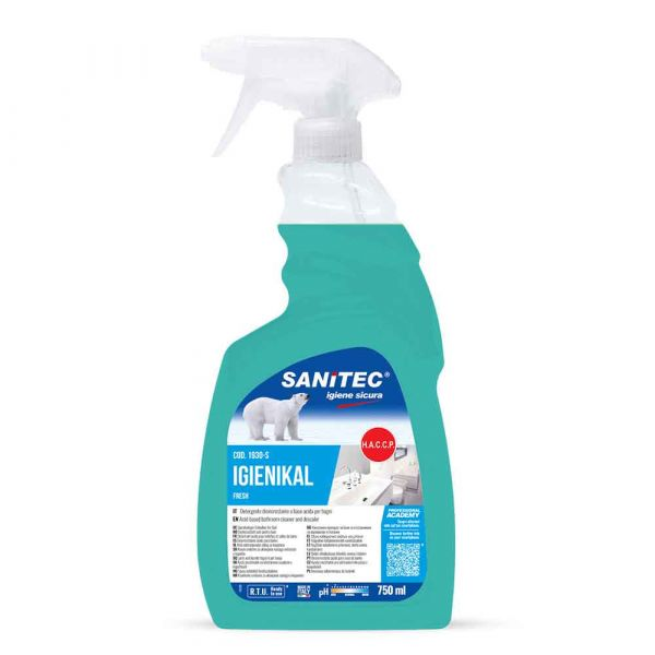 Igienikal spray disincrostante per bagni profumato di fresco Sanitec 750 ml