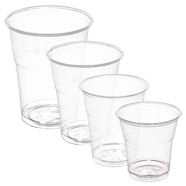 Bicchieri Kristal PET infrangibili monouso in plastica trasparente
