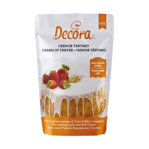Cremor tartaro agente lievitante naturale 50 g Decora