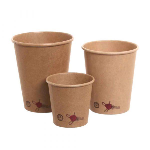 50 Bicchieri di cartoncino stampati Ceralacca per bevande calde
