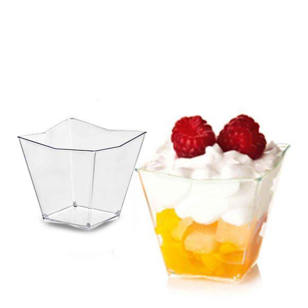 Bicchierini finger food per dolci monoporzione Diamante Poloplast