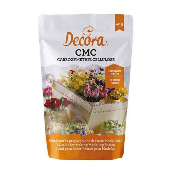 CMC carbossimetilcellulosa in bustina per pasta di zucchero 40 g Decora