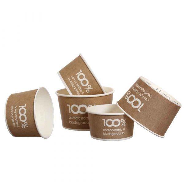 Coppette gelato in carta 100% compostabili Havana