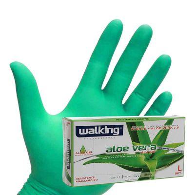 100 Guanti nitrile Aloe Vera verde