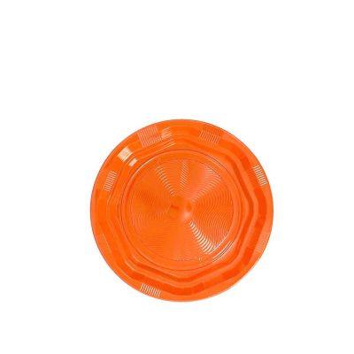 25 Piattini di plastica riutilizzabili e lavabili arancioni DOpla Ø17 cm