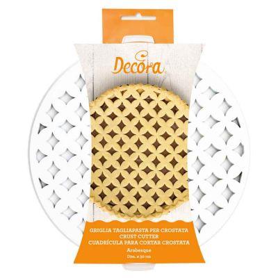 Griglia Tagliapasta arabesco per crostata in plastica tonda Ø30cm
