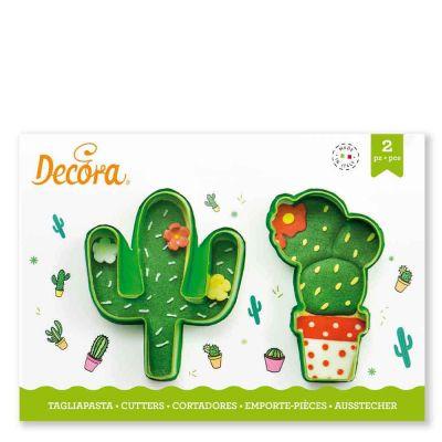 Set 2 Cutters Tagliapasta in plastica cactus Decora