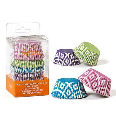 75 Pirottini in carta fantasia colori vari per cottura muffin Ø5 x h 3,2 cm
