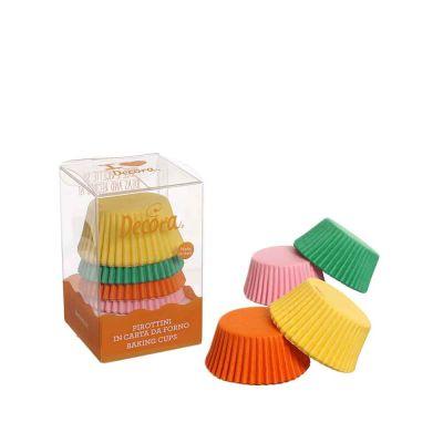 75 Pirottini in carta colori assortiti per cottura muffin Ø5 x h 3,2 cm Decora