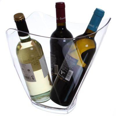 Secchiello per ghiaccio Cestello portabottiglie di design max 3 bottiglie