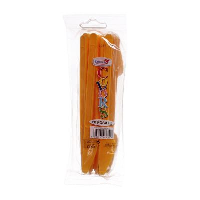 Coltelli di plastica monouso per feste DOpla Colors mango