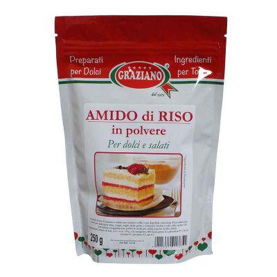 Amido di Riso in polvere per dolci e salati 250 g Graziano